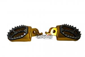 Pedal para motos OffRoad / Cross Dourado Leg Speed