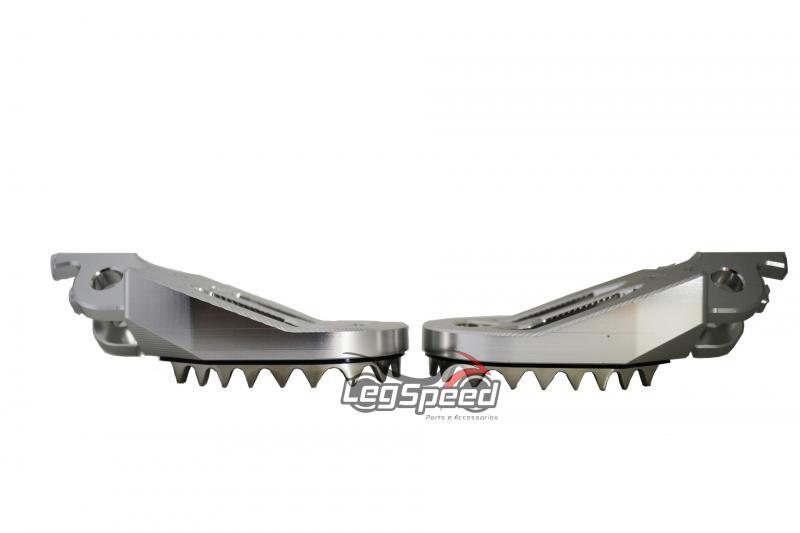 Pedal para motos OffRoad / Cross Prata/Escovado